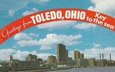 LAM(B) Toledo, OH - Greetings from the Key to the Sea -View of Skyline from Lake