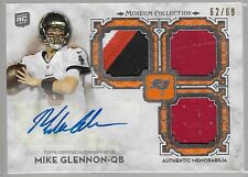 2013 Museum Collection Mike Glennon Auto Triple Game Used 4 Color Patch Rc # /69