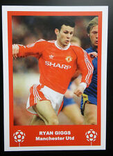 MANCHESTER UNITED - RYAN GIGGS - VINTAGE BIRTHDAY 'FOOTBALL CARD' / GIFT TAG