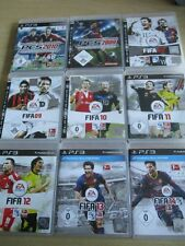 9 x sony playstation 3 ps3 jeux sport football fifa soccer