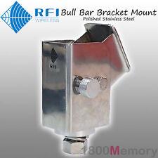 RFI Folding Bull Bar Antenna Bracket Mount Polished for CDQ7195 CDQ2197 CDQ2199