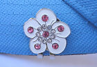 White Flower with Crystals Golf Ball Marker & Magnetic Hat Clip