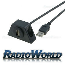 In-Car USB 2.0 Flush Mount Socket Extension Cable / Lead Adaptor / Input 2M