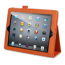 Orange Faux Leather Folio Case with in built Stand Function for iPad 2/3/4
