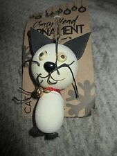 """NWT CRAZY HEAD """"CAT"""" Large Wood Ornament-Holiday/Christmas-Cute!"""