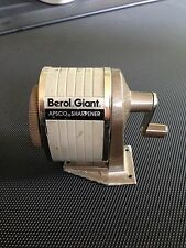 VINTAGE BEROL GIANT APSCO PENCIL SHARPENER WORKS USED