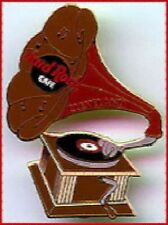 Hard Rock Cafe CLEVELAND Gramophone Record Player PIN Antique Wind-Up HRC #1914