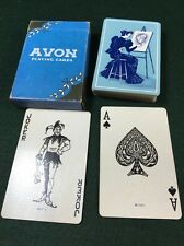 Vintage Avon Playing Cards Lady Old Fashioned Dress Painting Portrait Blue M