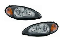 2001-2005 Chrysler PT Cruiser BLACK Housing Head Lights DEPO PAIR Lamps