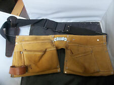 J2 Preowned Soft Suede Leather Pocket Tool Belt/Pouch Tape Holder USA