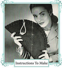 How to make a Vintage 1940s wartime chic,stylish crochet clutch handbag-pattern