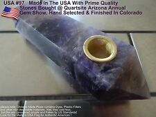 Dream Amethyst Natural Quartz Crystal Wand Smoking Pipe #97  Metaphysical
