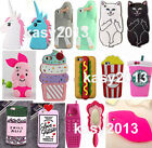 3D Soft Silicone Animal Cartoon Phone Case Cover Skin For iPhone 4S 5S 6 Plus SE