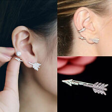 Creative 1PC Bow Arrow Crystal Ear Stud Women's Fashion Earrings Jewelry Gift
