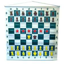 "27""  DEMO DEMONSTRATION CHESS BOARD FOR SCHOOL NEW IN CARRYING BAG"