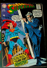 SUPERMAN #209 (FN+) The Clark Kent Monster! Classic DC 1968 Silver-Age