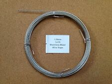 1.5mm x 10m Stainless Steel Wire Rope  1/19  19 Strand 18/8 304 INOX Surgical