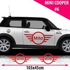 Mini Cooper Logo Graphics Stickers Decal Car Tuning Size 103x45Cm