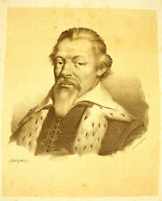 LITHOGRAPHIE de J-B MAUZAISSE c 1825: Philippe Duplessis-Mornay du Plessis–Marly