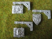 Set of 3 Shop Signs Thomarillion Unpainted Metal Dwarven Forge D&D