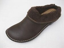 Lila Womens Shoes NEW $120 Brianna Brown Leather Clog w Faux Fur 8 M