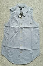 Atticus Woman's Pale Blue Eyes Denim look Shirt UK Size XS. Brand New With tags.