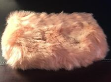 Ryan Roche For Beauty.com Nude/Pink Fur Cosmetic Back New