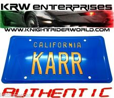 1982 PONTIAC FIREBIRD KNIGHT RIDER K2000 KARR AUTHENTIC ACCURATE LICENSE PLATE