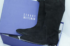 Stuart Weitzman Women's Shoes Boots Size 8.5 Halftime Black Suede High Long NIB