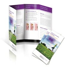 "500 Roll Fold Glossy Brochures REAL PRINTING not copies 8 1/2"" x 11"" Full Color"