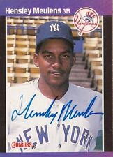 Hensley Meulens New York Yankees 1989 Donruss Autographed Rookie Card W/COA