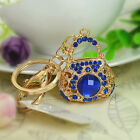 Bag Blue Keyring Rhinestone Crystal Pendant Key Chain Christmas Gift New Arrival