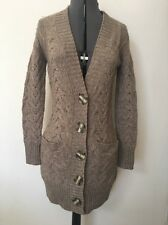 Vince Cable Knit Chunky Cardigan, Sweater Braided Irish Motive,  Size S