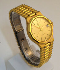 ENICAR OROLOGIO UNISEX PLACCATO ORO DATA NUOVO WATCH GOLD PLATED VINTAGE DATE