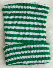 Green and White Striped Knit Newborn Hospital Hat - Baby Beanie