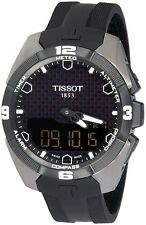 Men's Tissot T-Touch Solar Quartz Chronograph Black Dial Watch