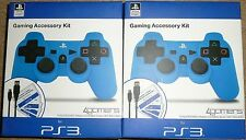 2 x SONY PLAYSTATION 3 PS3 CONTROLLER USB CHARGER CABLE SILICON COVER BRAND NEW