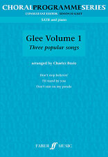 Glee Volume 1 Pop Singer Choir Choral Easy Alto Tenor Piano FABER Music BOOK