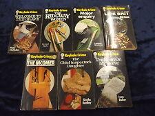 7 KEYHOLE CRIME BOOKS ** UK POST £3.25 ** PAPERBACKS