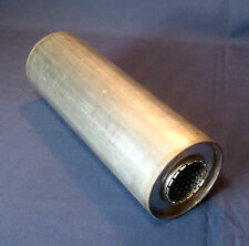 "50mm bore (2"") 4"" Round x 24"" Long Universal Stainless steel exhaust silencer"