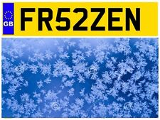 FR52 ZEN FROZEN CHILLED FOOD DELIVERY VAN LORRY FROSTY COLD PRIVATE NUMBER PLATE