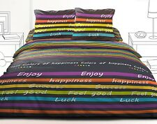 Housse de couette 220x240 + 2 taies 100% microfibre Colors of happiness
