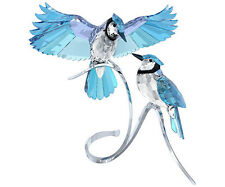 SWAROVSKI CRYSTAL BIRDS LARGE BLUE JAYS NEW IN BOX 1176149 FREE SHIP BLUEJAYS