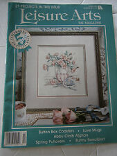 April 1991 Leisure Arts Cross Stitch Back Issue Magazine Coasters Love Afghan