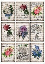 *1 Bogen Bügelbilder*flowers*Dekoration*Cottage*Impressionen*Shabby*Deko*