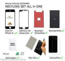 iPhone 5 5g DISPLAY DIGITIZER RECYCLING REPARATUR SET RAHMEN POL BACKLIGHT