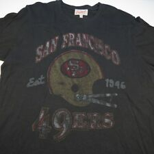JUNK FOOD SF SAN FRANCISCO 49ers NFL FOOTBALL VINTAGE BURNOUT TEE T SHIRT Mens S