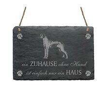 Schiefertafel RHODESIAN RIDGEBACK « EIN ZUHAUSE OHNE HUND IST... » 2 Schild Dog
