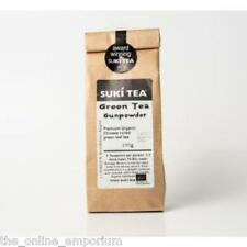 2 x 100g SUKI GUNPOWDER GREEN LOOSE LEAF TEA - 100% ORGANIC ROLLED GREEN TEA