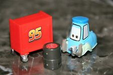 "DISNEY PIXAR CARS 2 ""PIT CREW GUIDO W/TOOL BOX AND TIRES""  LOOSE, VERY SMALL"